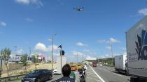 Pendik'te drone ile trafik denetimi