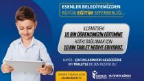 Esenler Belediyesi'nden, eğitime destek ''Tablet kampanyası''