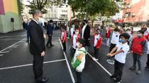 Halil Rüştü İlkokulunda bayrak töreni