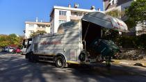 Çöp toplama alanları dezenfekte ediliyor